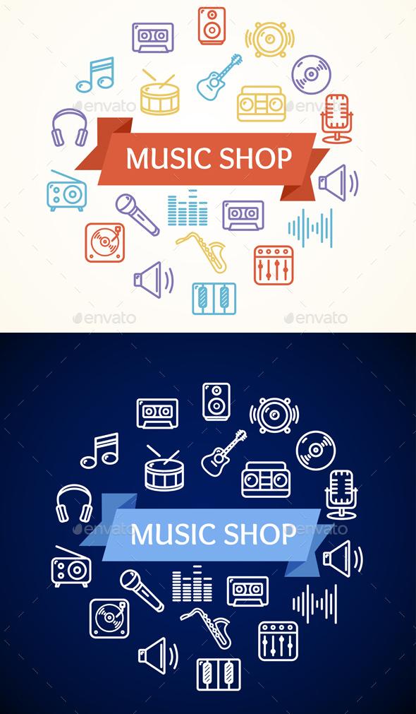 Music Shop Concept - Miscellaneous Conceptual