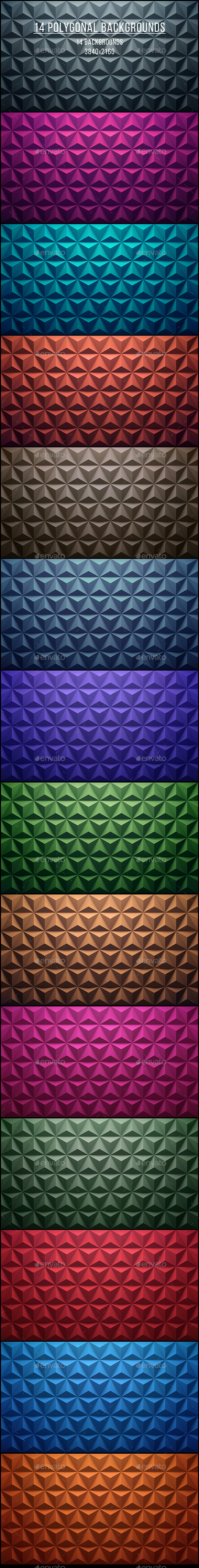 14 Polygonal Backgrounds - Abstract Backgrounds