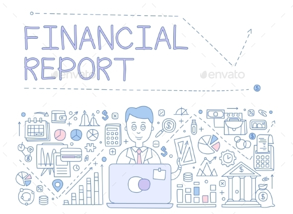 Financial Report Infographics - Computers Technology