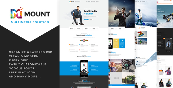 Mount – PSD Template