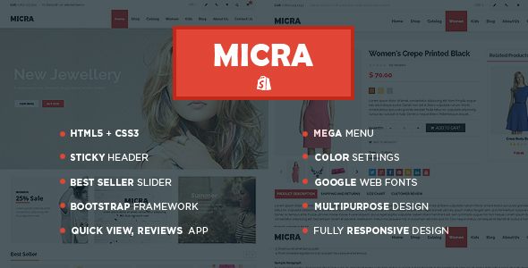 Micra Auto Parts Store Shopify Theme & Template