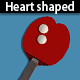 Valentine's heart shaped ping pong paddles - GraphicRiver Item for Sale