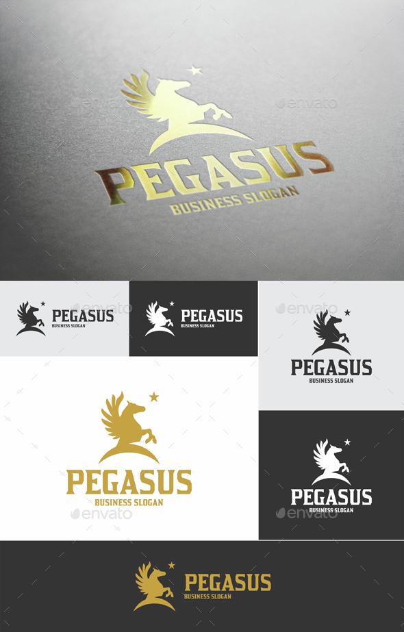 Pegasus Star Logo Template