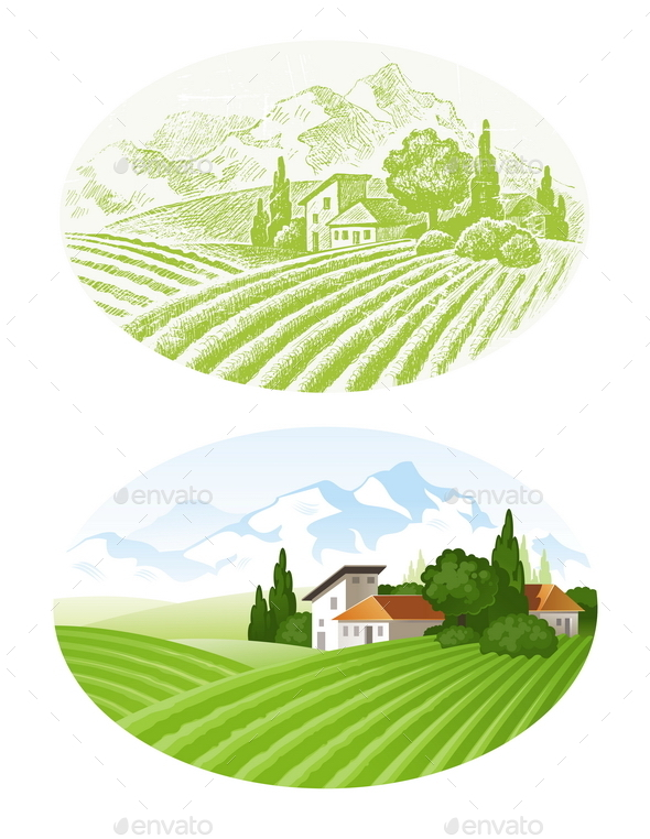 Landscape with Agrarian Fields - Landscapes Nature