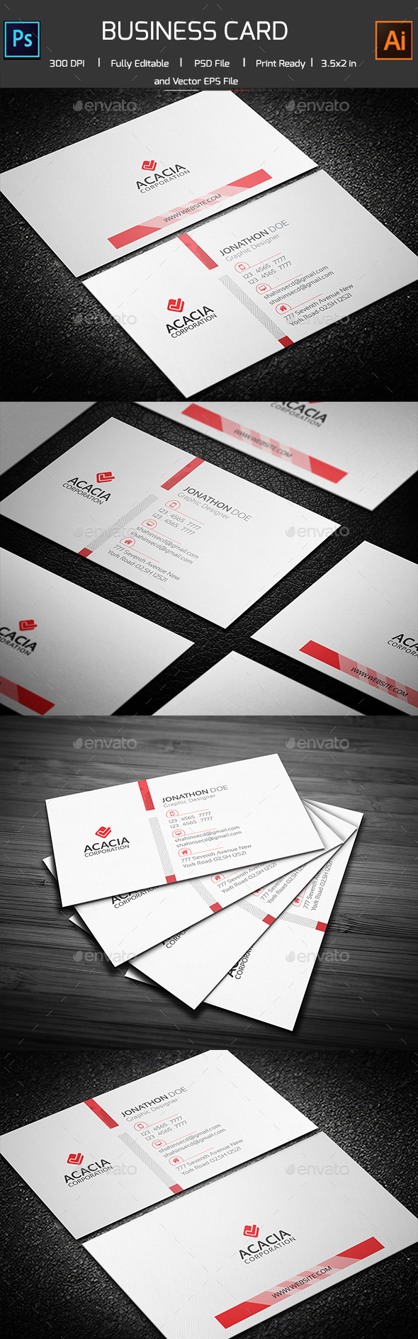 Vasha Business Card - Corporate Business Cards