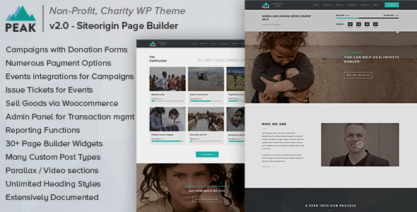 Peak - Charity Nonprofit WordPress Theme