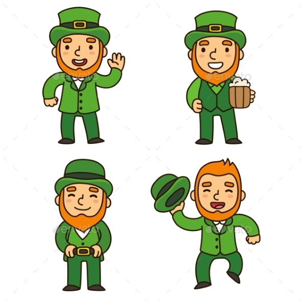 Saint Patricks Day Leprechauns - People Characters