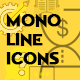 Mono Line Icons Collection - GraphicRiver Item for Sale