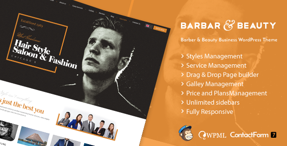 HairLoom | Responsive WordPress Theme for Barbers & Hair Salons  - Health & Beauty Retail