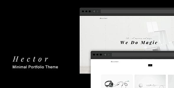Hector – Minimal Portfolio Theme