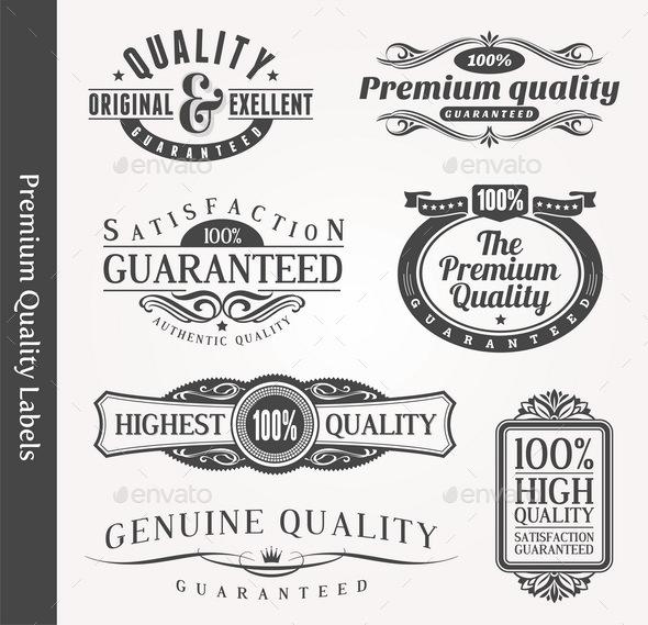 Decorative Ornamental Signs of Quality. - Decorative Vectors