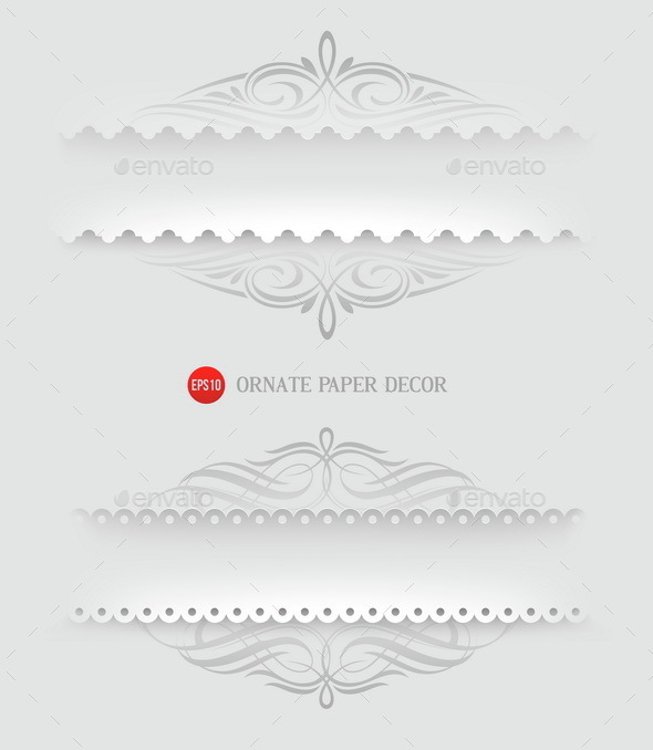 Ornamental Decorative Paper Frames - Decorative Vectors