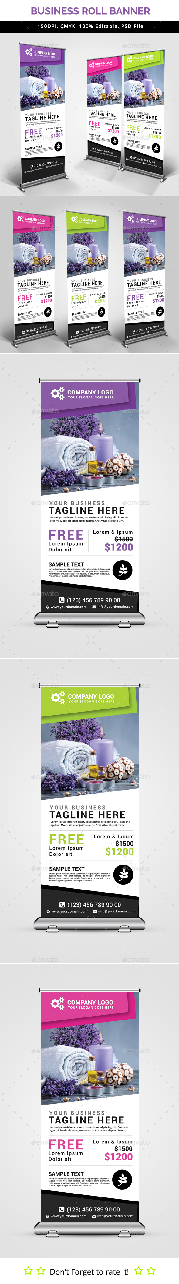 Business Roll Up Banner V26 - Signage Print Templates