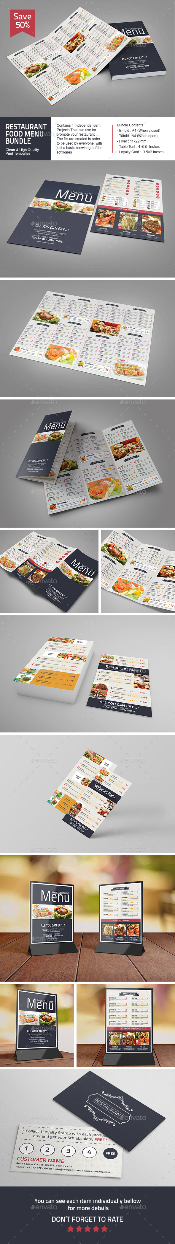 Restaurant Food Menu Bundle - Food Menus Print Templates