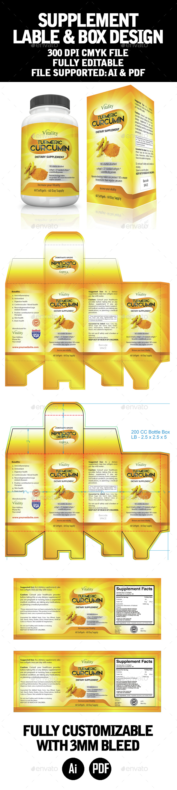 Label and Box Template - Packaging Print Templates