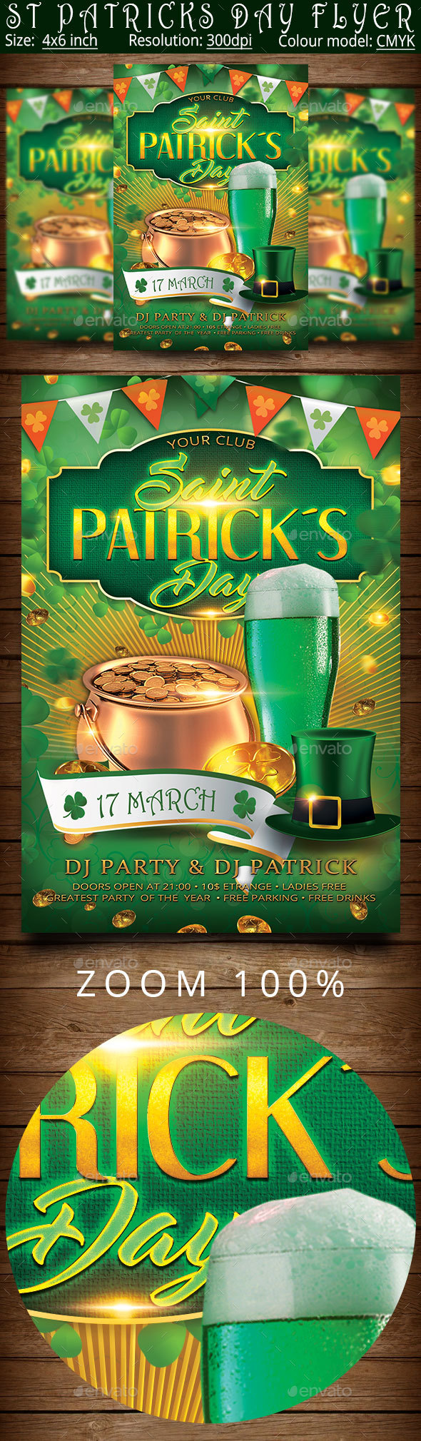 St Patrick Day Flyer Template - Clubs & Parties Events
