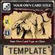 Fantasy Trading or Collectible Card Template - GraphicRiver Item for Sale