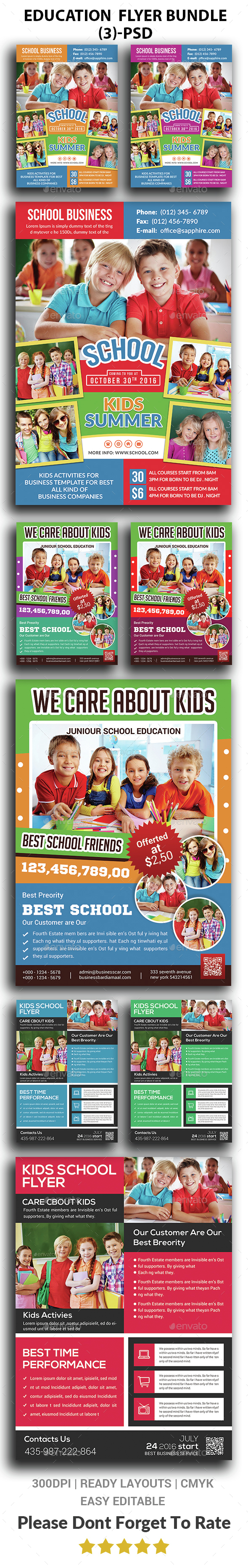 School Flyer Bundle Print Templates - Corporate Flyers