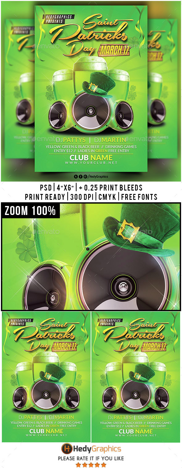Saint Patricks Day- Flyer Template - Holidays Events