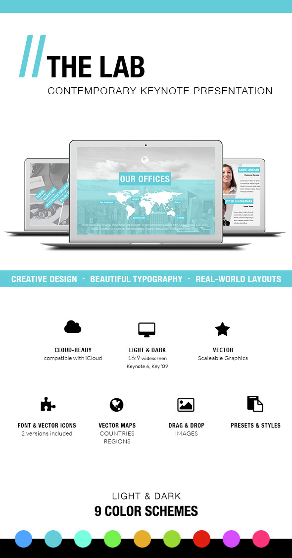THE LAB - Keynote Presentation Template - Business Keynote Templates