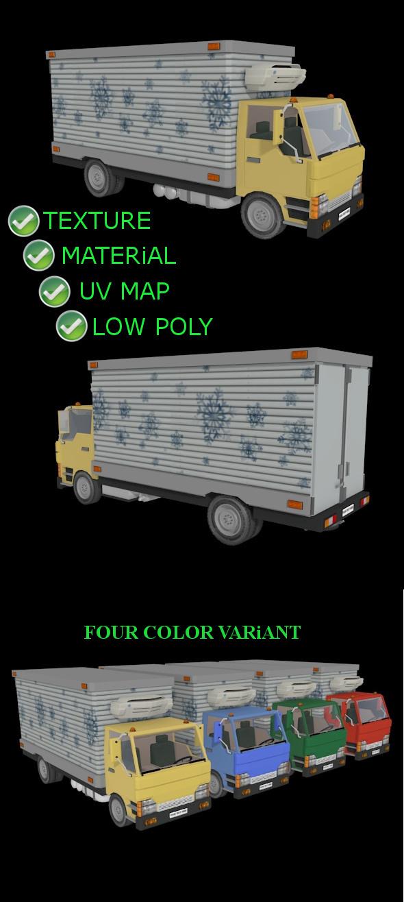 Refrigetad Cargo Truck - 3DOcean Item for Sale