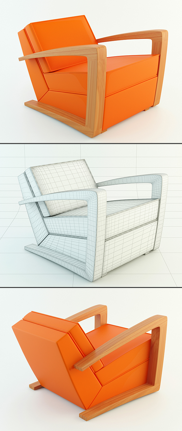 Kustom Armchair - 3DOcean Item for Sale