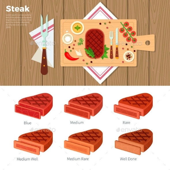 Tasty Steak Served On The Table  - Food Objects
