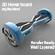3D Hover Board - 3DOcean Item for Sale