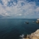Beautiful Sea And Blue Sky With Clouds. Island Tabarca.Spain. - VideoHive Item for Sale
