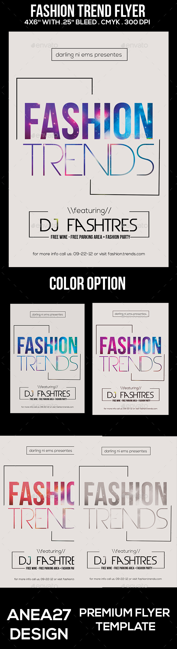 Fashion Trend Flyer - Clubs & Parties Events