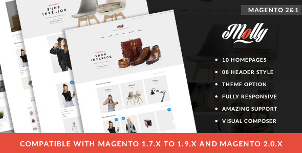 Molly - Elegant & Clean Multipurpose Magento 2 & 1 Theme