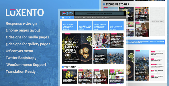 Luxento – Magazine WordPress theme
