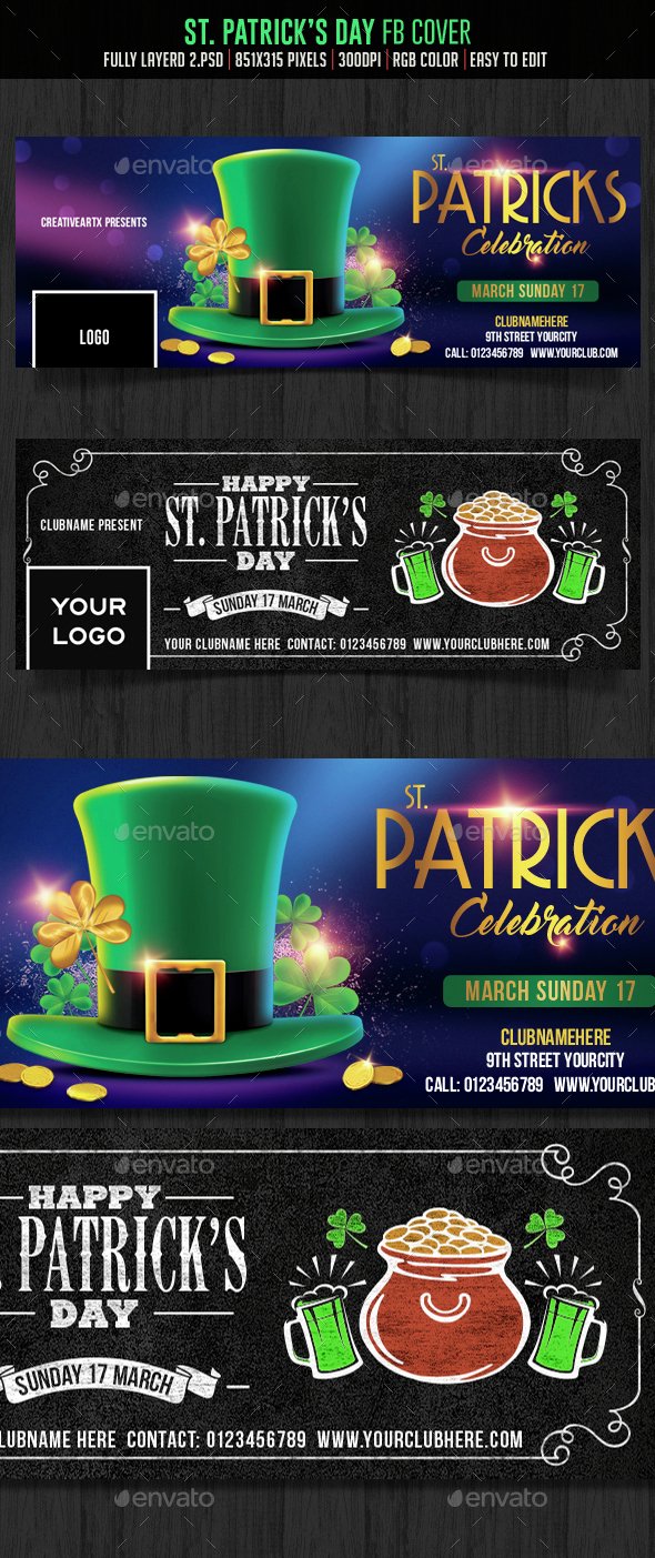 St.Patrick's Day Facebook Cover - Facebook Timeline Covers Social Media