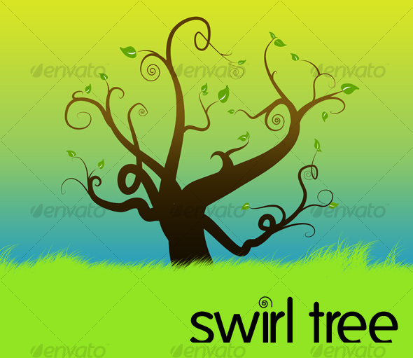swirl tree - Flourishes / Swirls Decorative