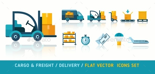 Freight Cargo Delivery Transportation and Logistic Flat - Industries Business
