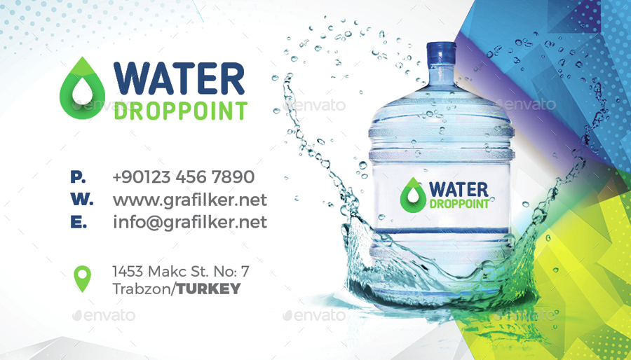 Drinking water service business card templates by grafilker drinking water service business card templates corporate business cards 01waterdesignpreview01waterdesigng colourmoves