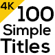 100 Motion Titles and Lowerthirds - VideoHive Item for Sale