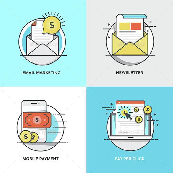 Modern Flat Color Line Designed Concepts - Concepts Business