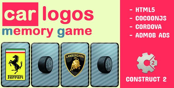 Car Logos Memory - CodeCanyon Item for Sale
