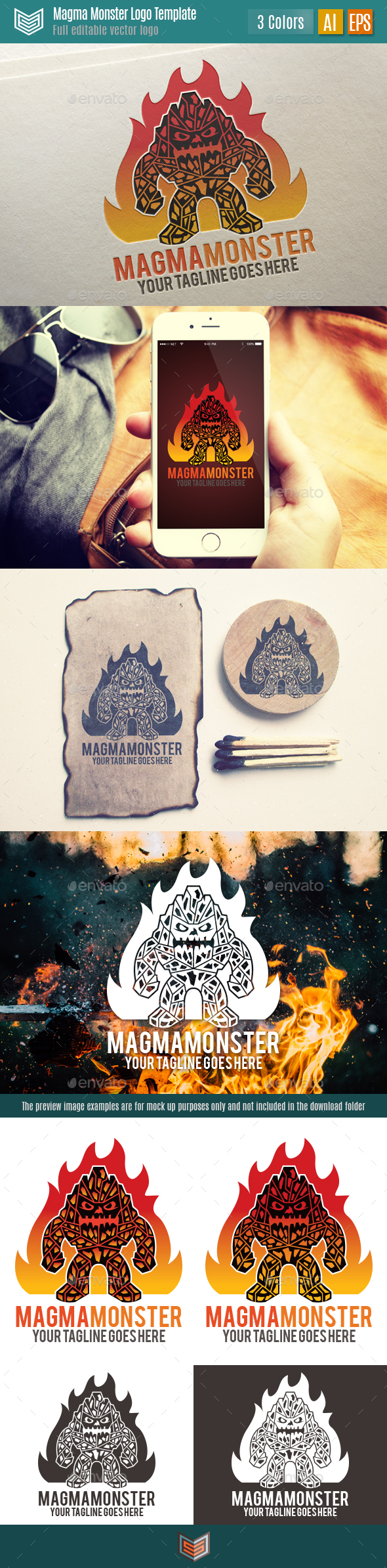 Magma Monster Logo. - Logo Templates