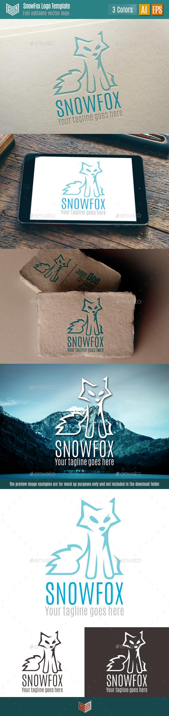 Snow Fox Logo - Animals Logo Templates
