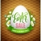 Easter Sale Background with Eggs and Spring Flower - GraphicRiver Item for Sale
