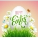 Easter Greeting Lettering Eggs and Flowers - GraphicRiver Item for Sale