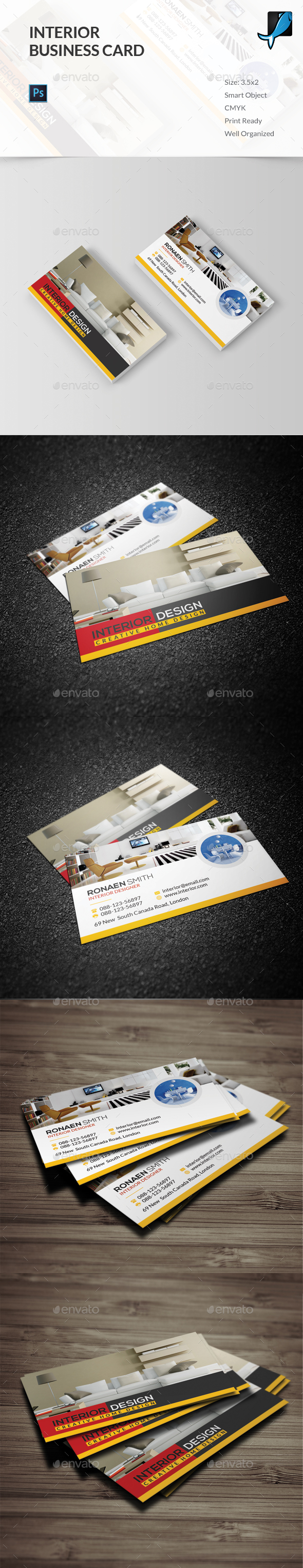 Interior Business Card - Industry Specific Business Cards
