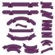 Big Purple Ribbons Set - GraphicRiver Item for Sale
