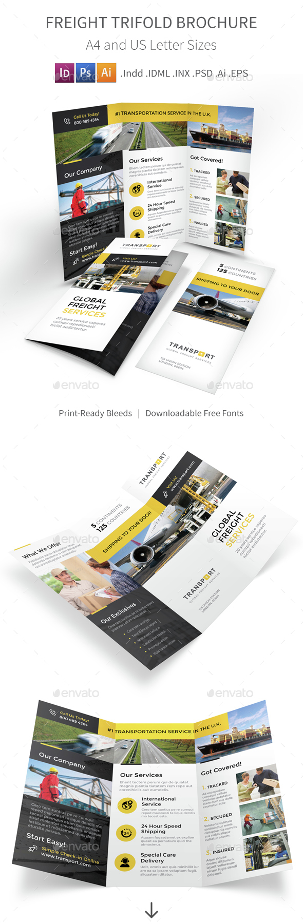 Freight Trifold Brochure - Corporate Brochures