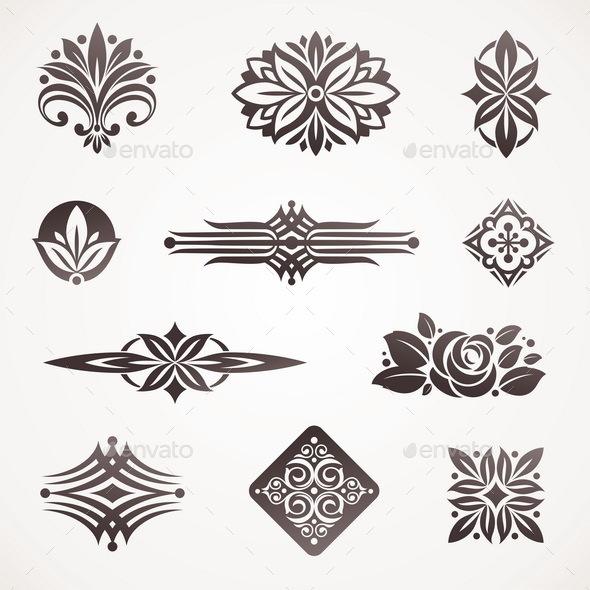 Page Decor and Design Elements - Decorative Symbols Decorative