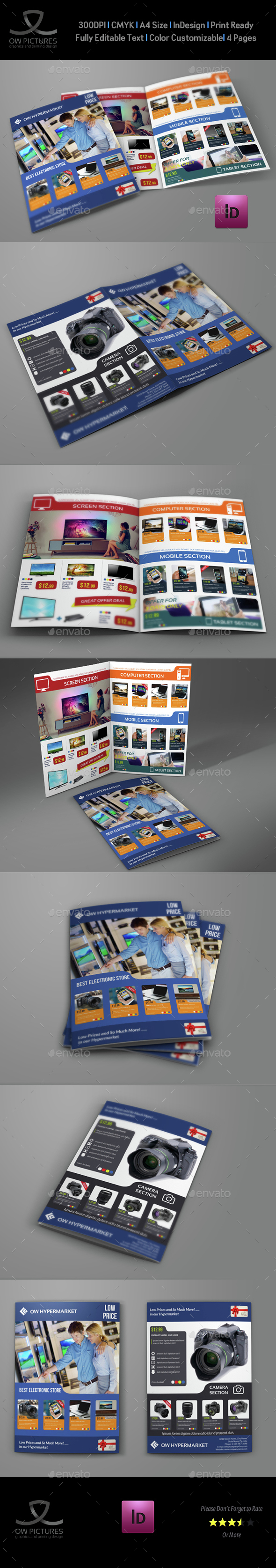 Electronics Products Catalog Bi-Fold Brochure Template - Catalogs Brochures