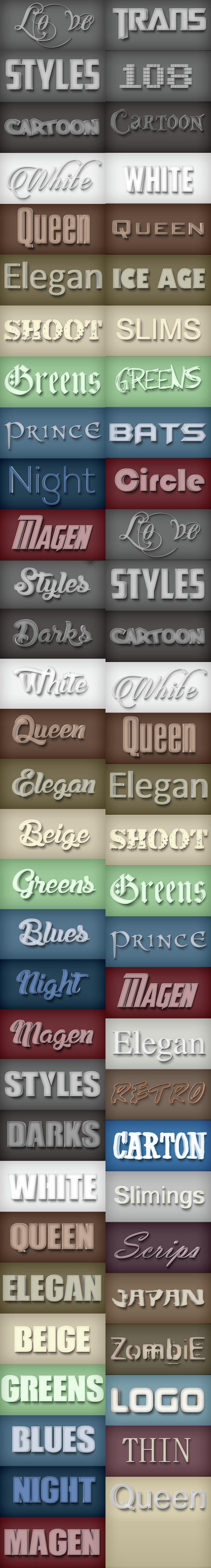 30 Bundle Elegant Styles Vol 1.3 - Styles Photoshop