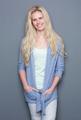 Beautiful blond woman smiling